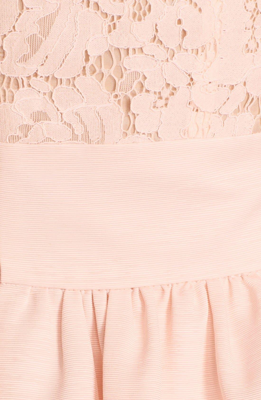 Alternate Image 6  - Eliza J Lace & Faille Dress (Regular & Petite)