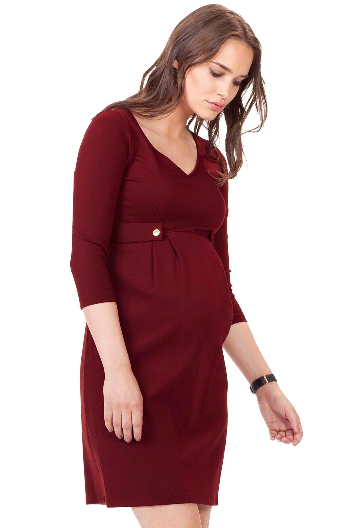 Alternate Image 2  - Isabella Oliver Marlow Maternity Dress