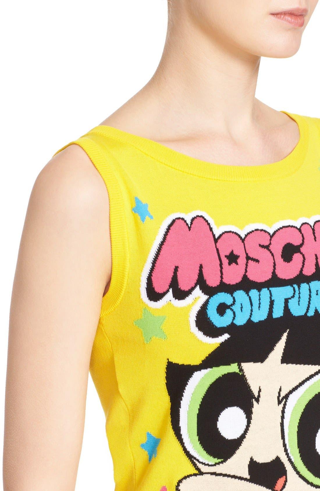 Alternate Image 5  - Moschino 'The Powerpuff Girls® - Buttercup' Intarsia Knit Dress