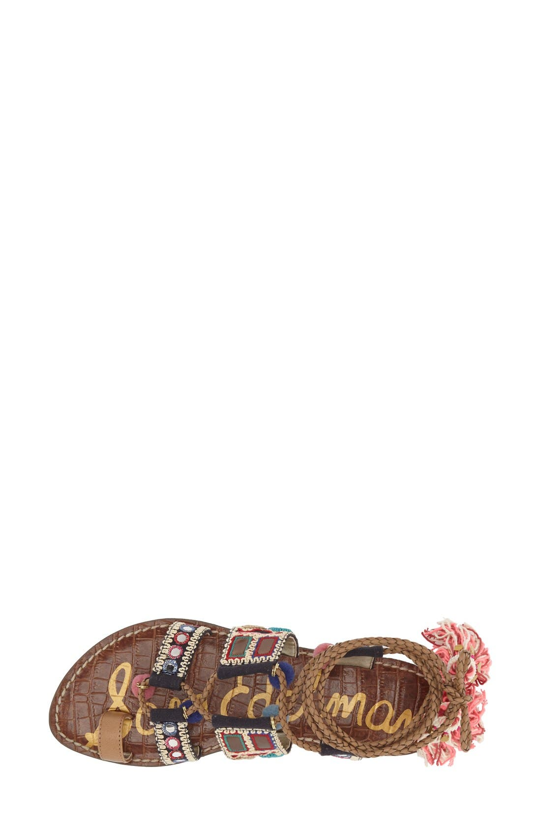 Alternate Image 3  - Sam Edelman 'Gretchen' Embellished Lace-Up Sandal (Women)