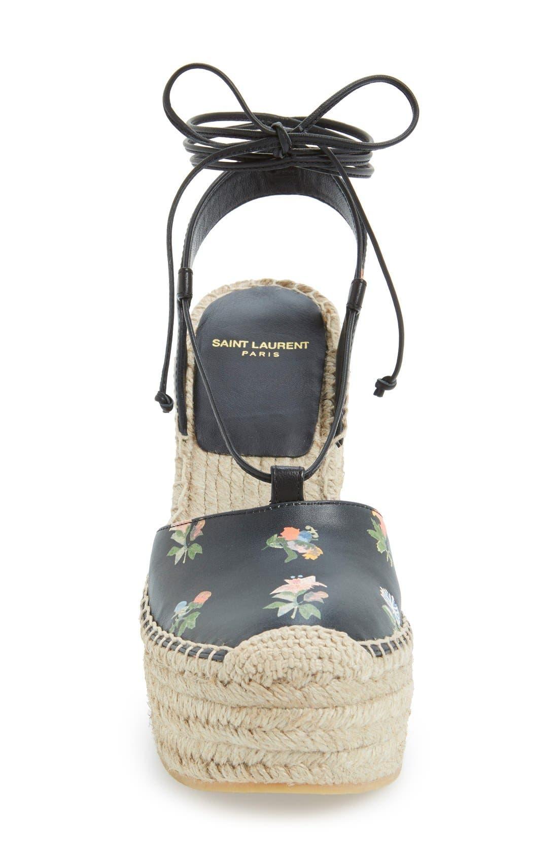 Alternate Image 3  - Saint Laurent Espadrille Wedge Sandal (Women)