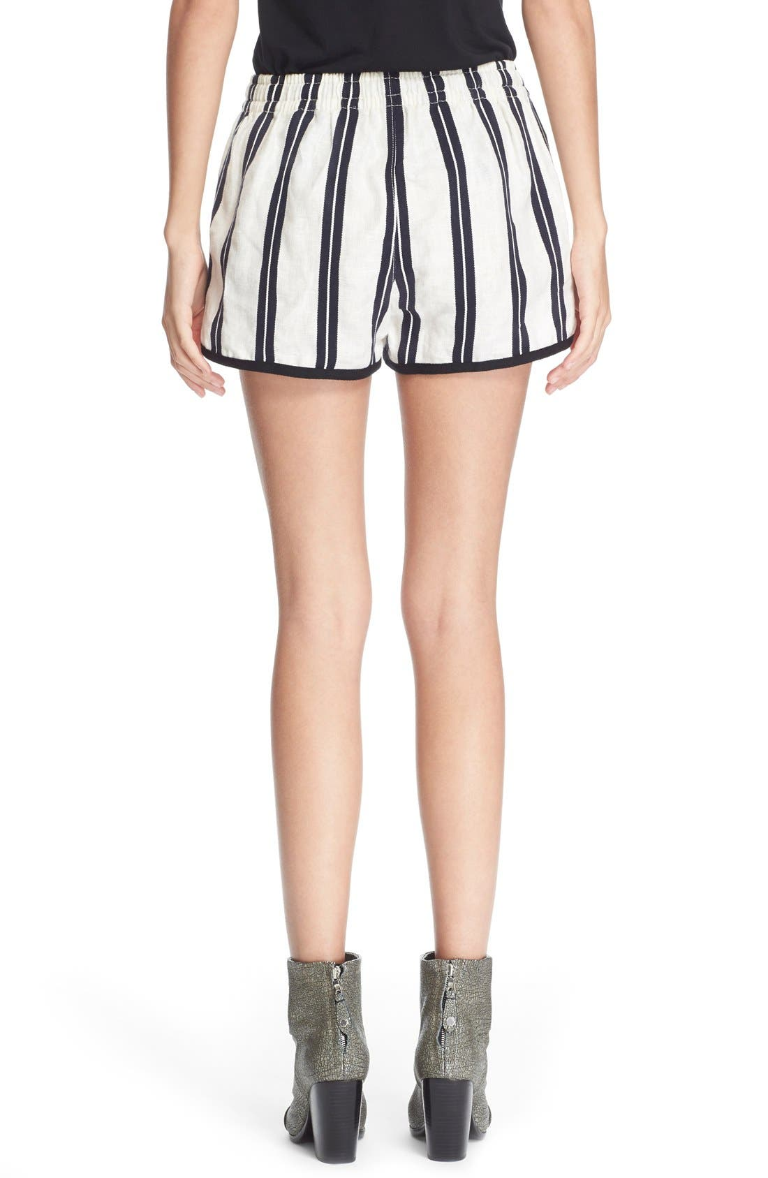 Alternate Image 2  - rag & bone/JEAN 'Beach' High Rise Stripe Shorts