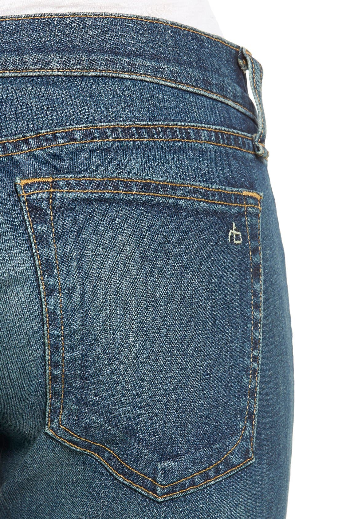 Alternate Image 4  - rag & bone/JEAN 'Tomboy' Boyfriend Skinny Jeans (Burnley)