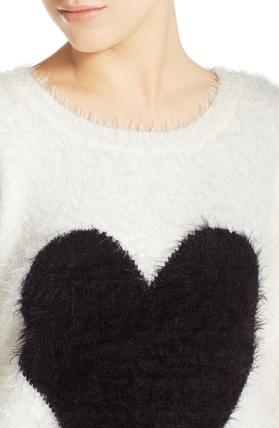 Alternate Image 4  - PJ Salvage Heart Front Sweater