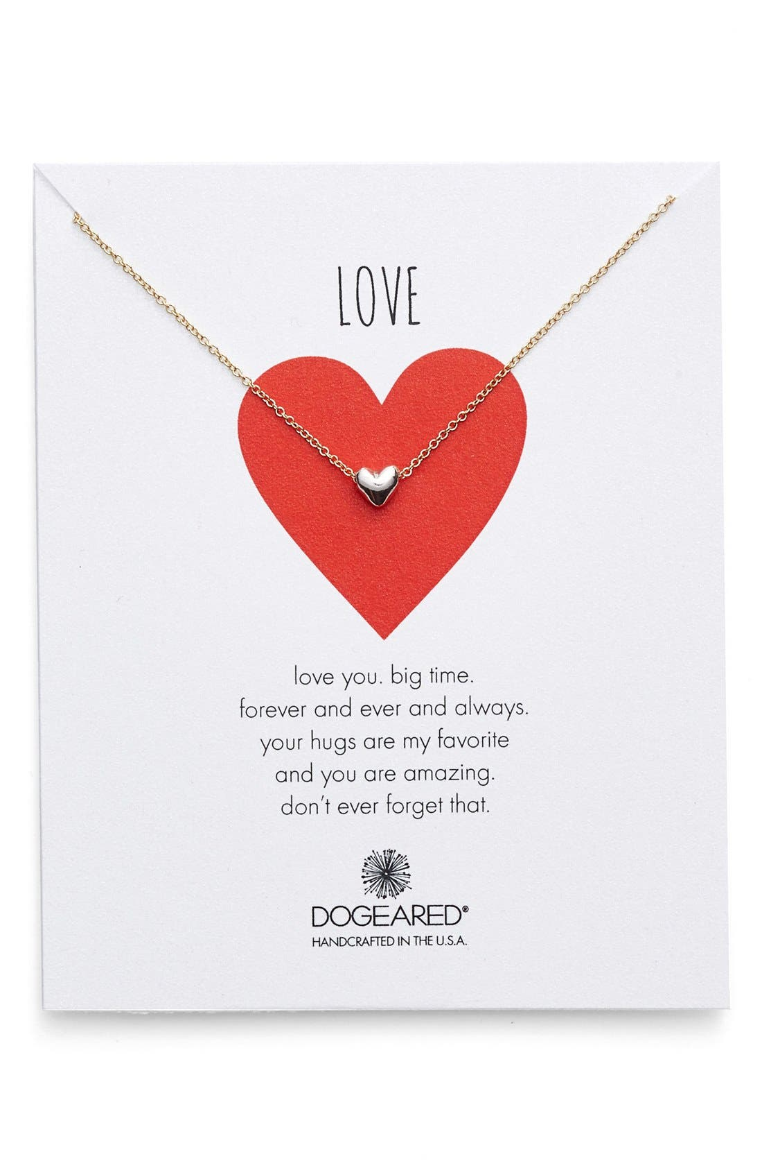 Main Image - Dogeared 'Chain Heart' Pendant Necklace