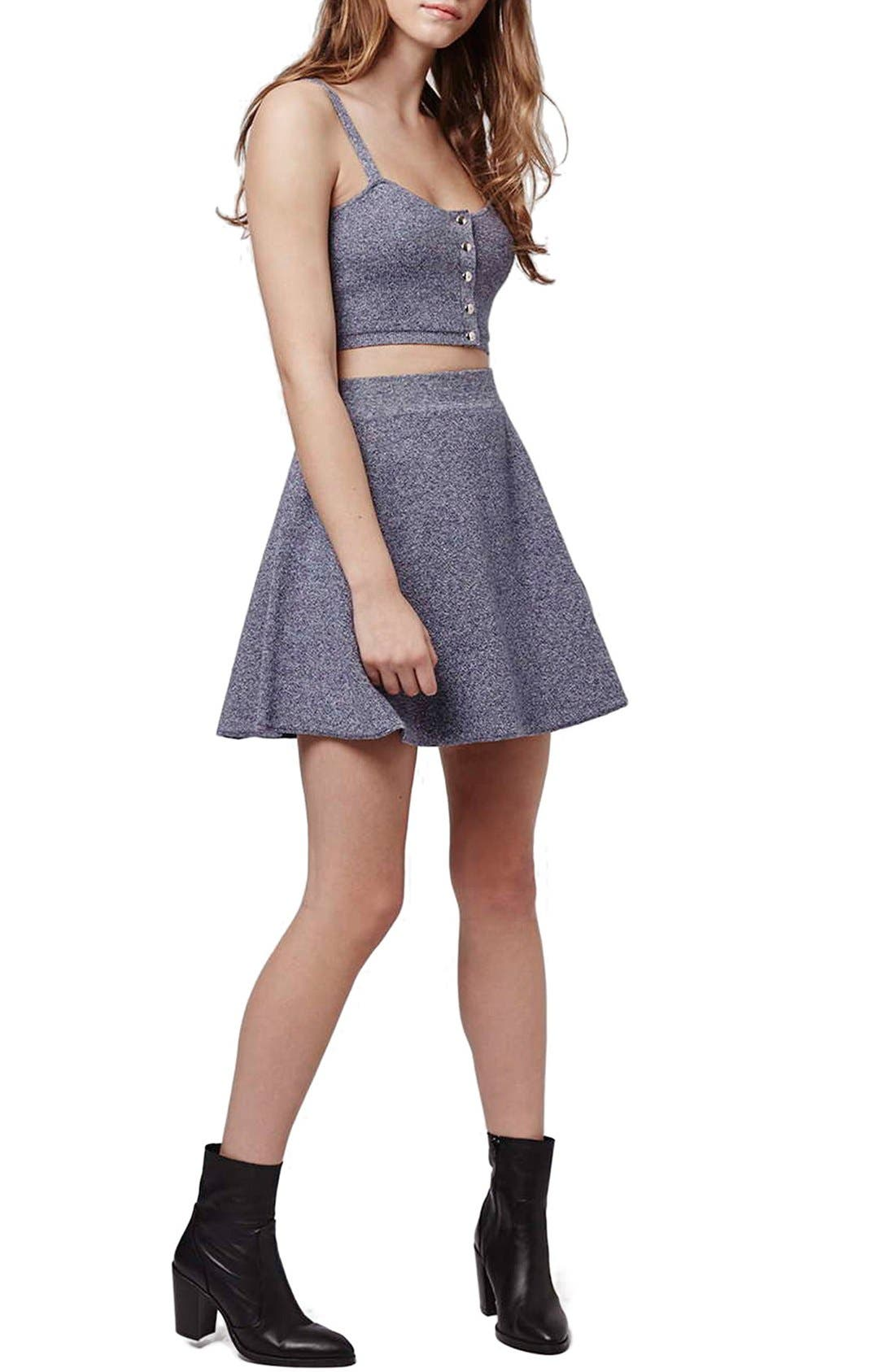 Alternate Image 2  - Topshop Flippy A-Line Skirt