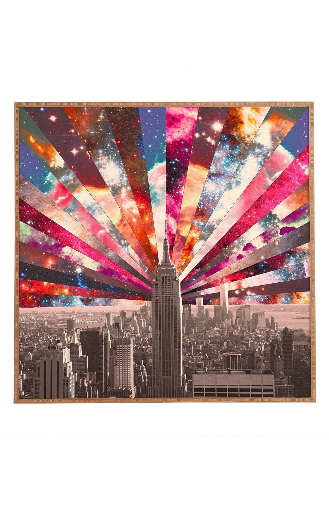 Main Image - DENY Designs 'Bianca Green - Superstar New York' Framed Wall Art