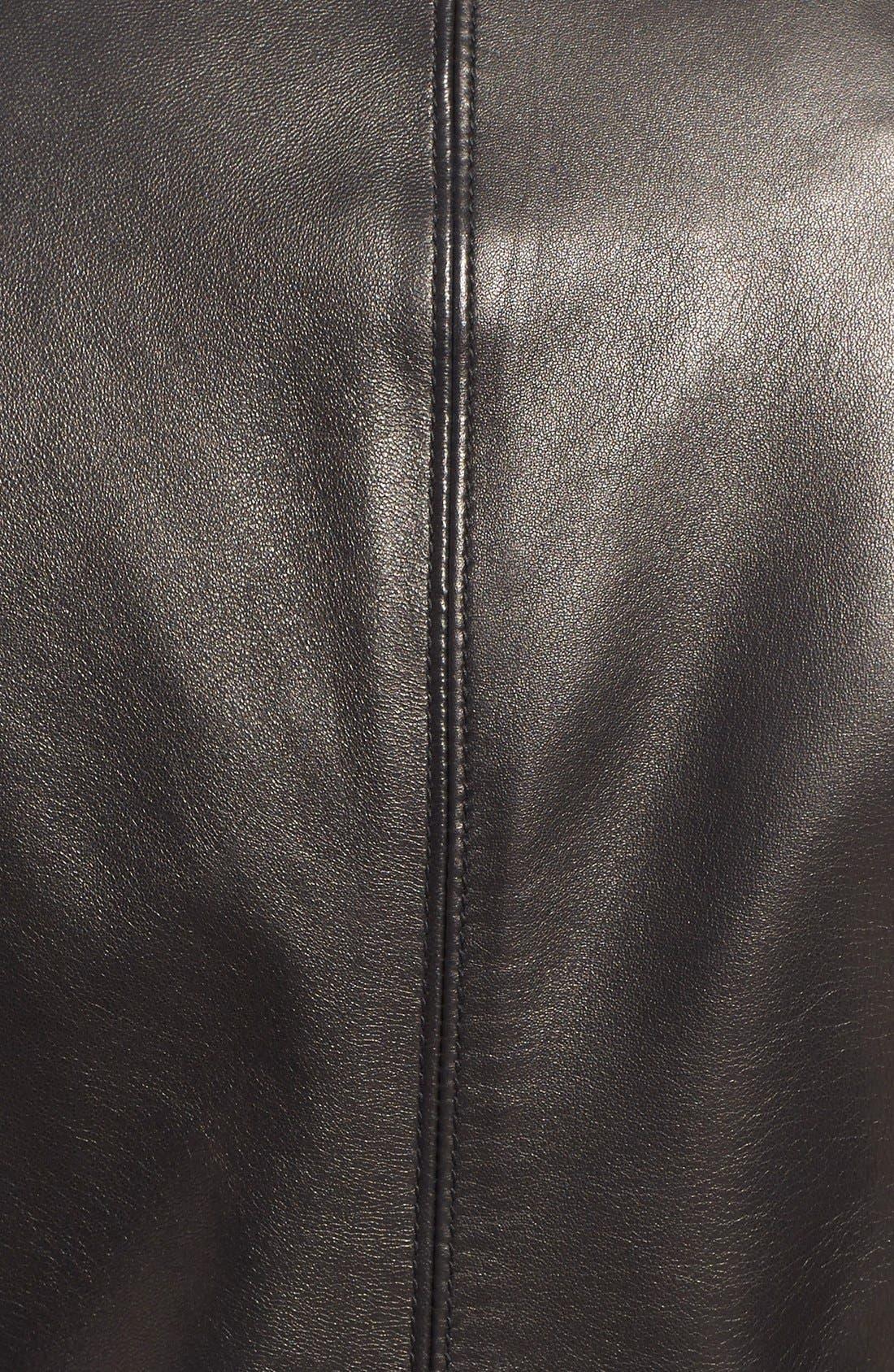 Alternate Image 5  - Soia & Kyo Slim Fit Zip Front Leather Jacket