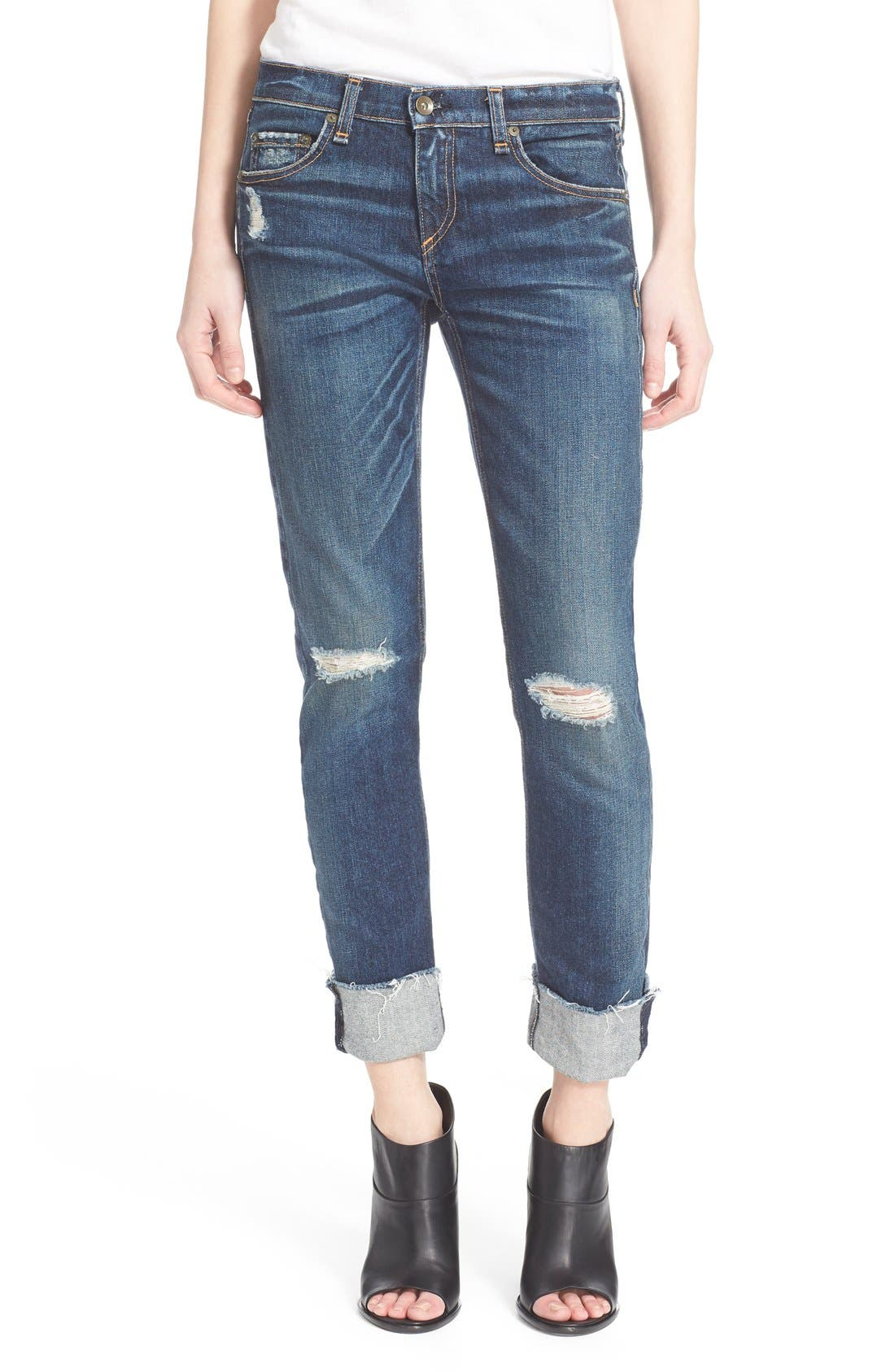 Alternate Image 1 Selected - rag & bone/JEAN 'The Dre' Slim Fit Boyfriend Jeans (Mabel)