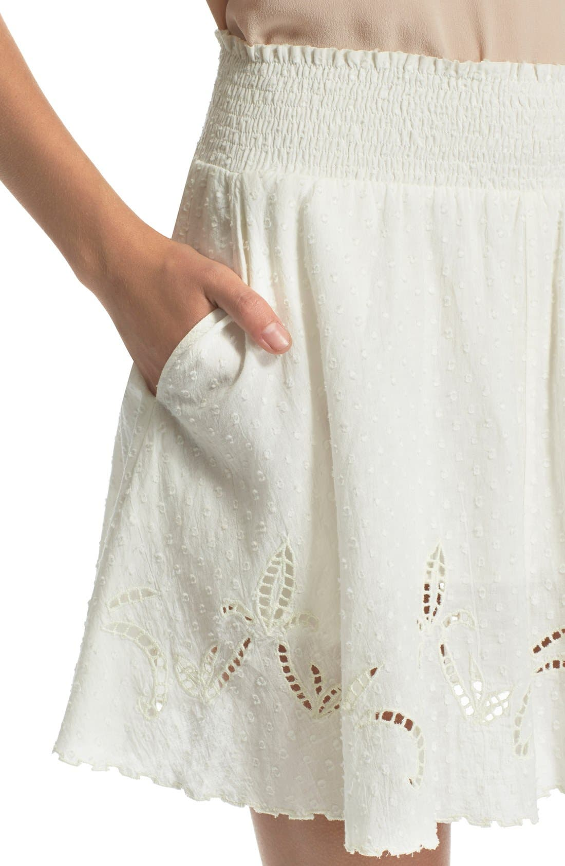 Alternate Image 4  - The Kooples Embroidered Cotton Dobby Skirt