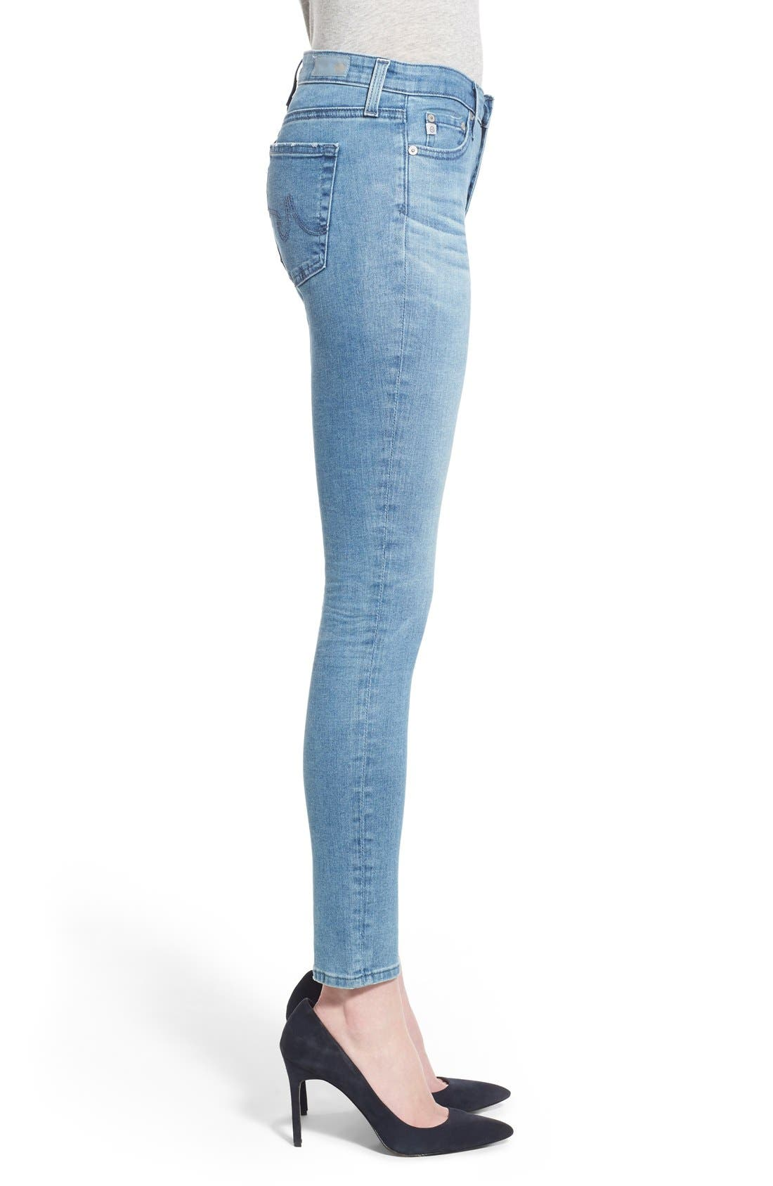 Alternate Image 3  - AG 'Middi' Ankle Skinny Jeans (15 Year LiberatingBeat)