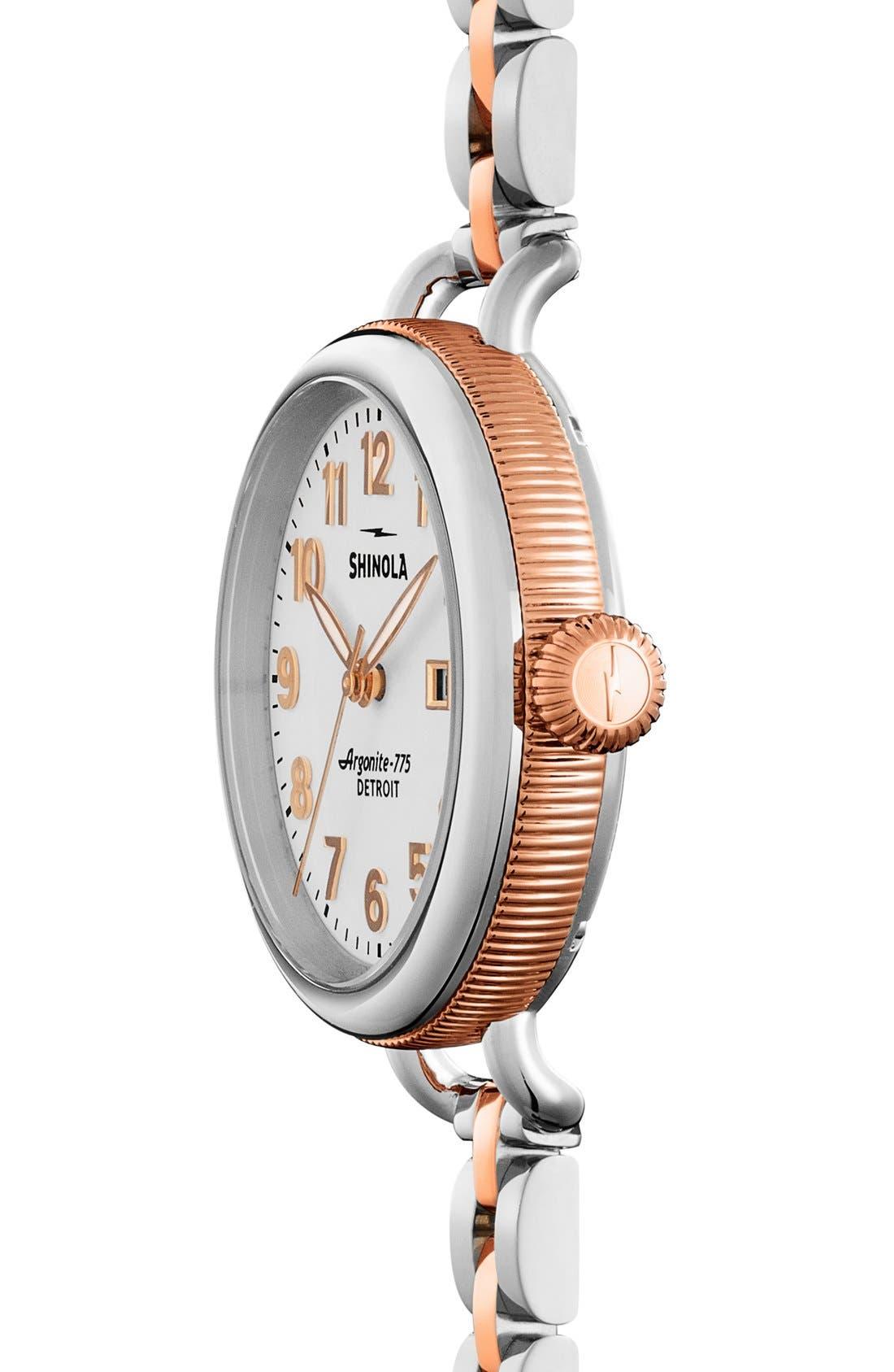 Alternate Image 3  - Shinola 'The Birdy' Bracelet Watch, 34mm