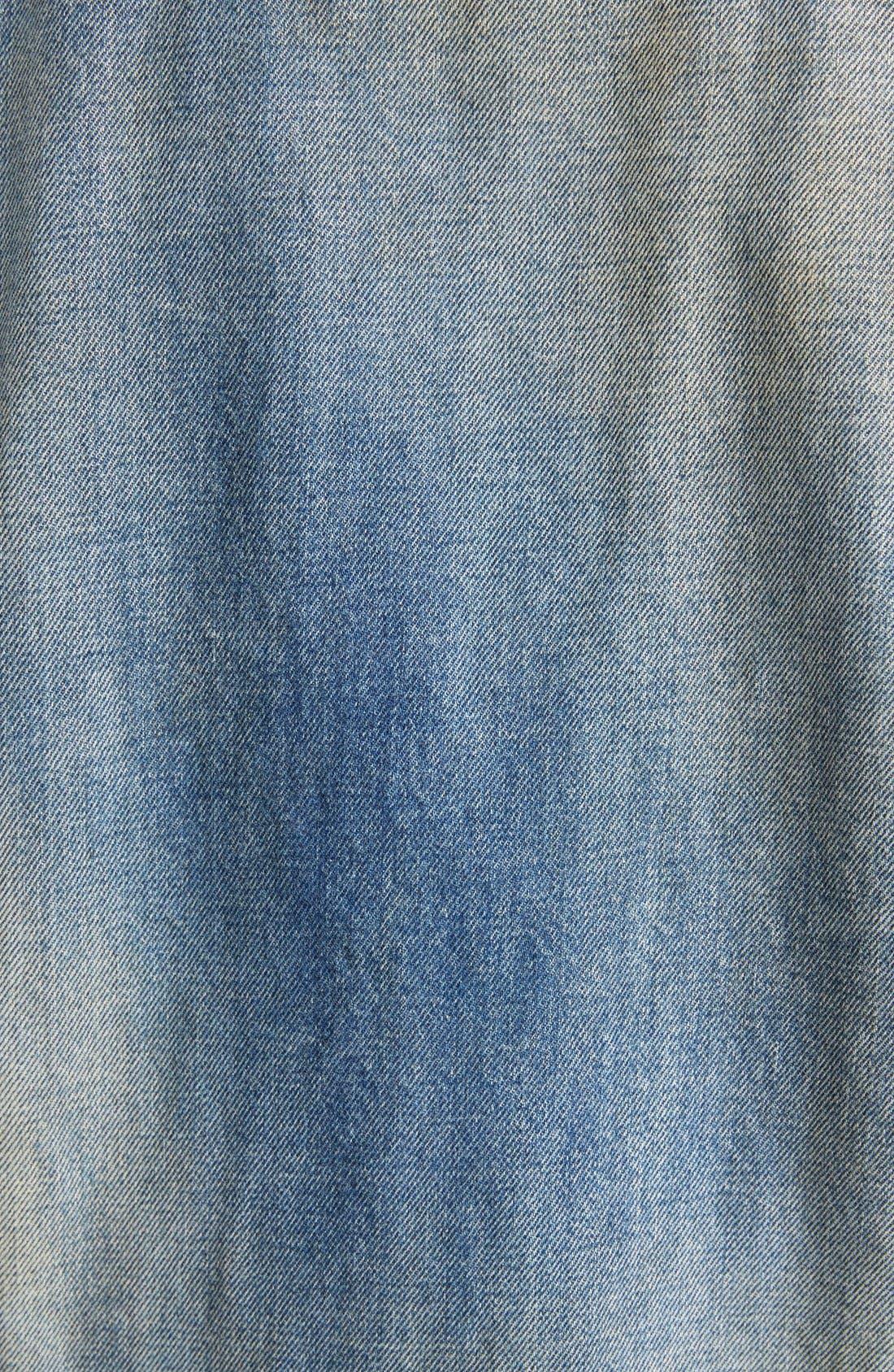 Alternate Image 3  - Saint Laurent Oversize Vintage Wash Denim Jacket