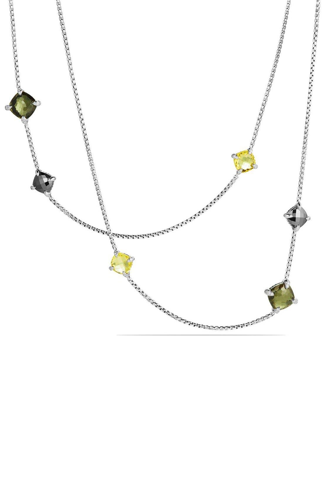Main Image - David Yurman 'Châ telaine' Long Station Necklace with Diamonds