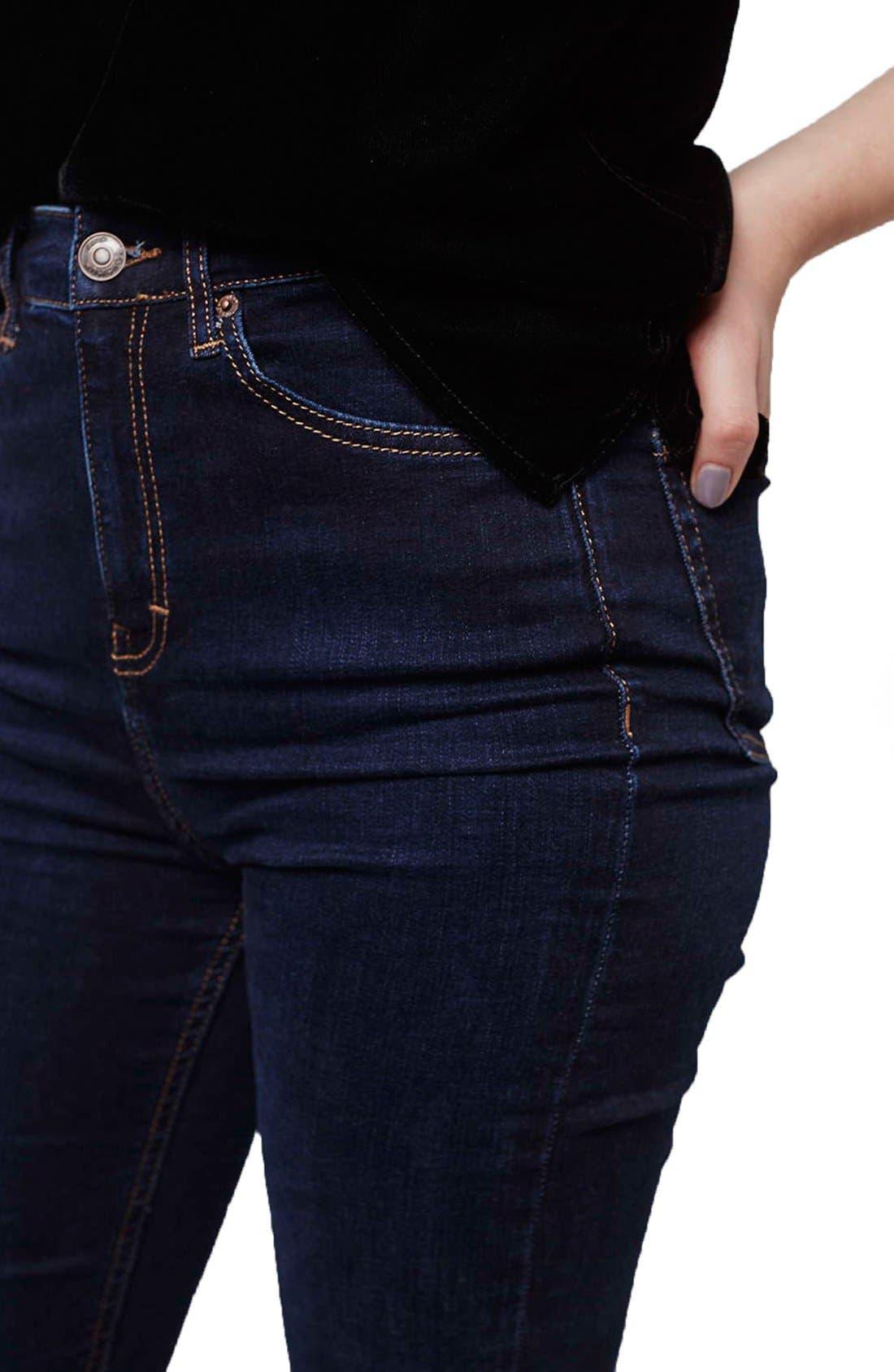 Alternate Image 5  - Topshop Moto 'Jamie' High Rise Skinny Jeans  (Tall)