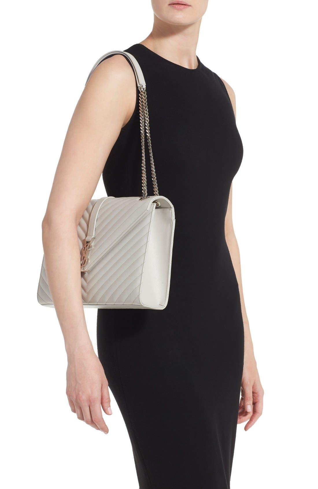 Alternate Image 2  - Saint Laurent 'Monogram' Chevron Quilted Leather Shoulder Bag