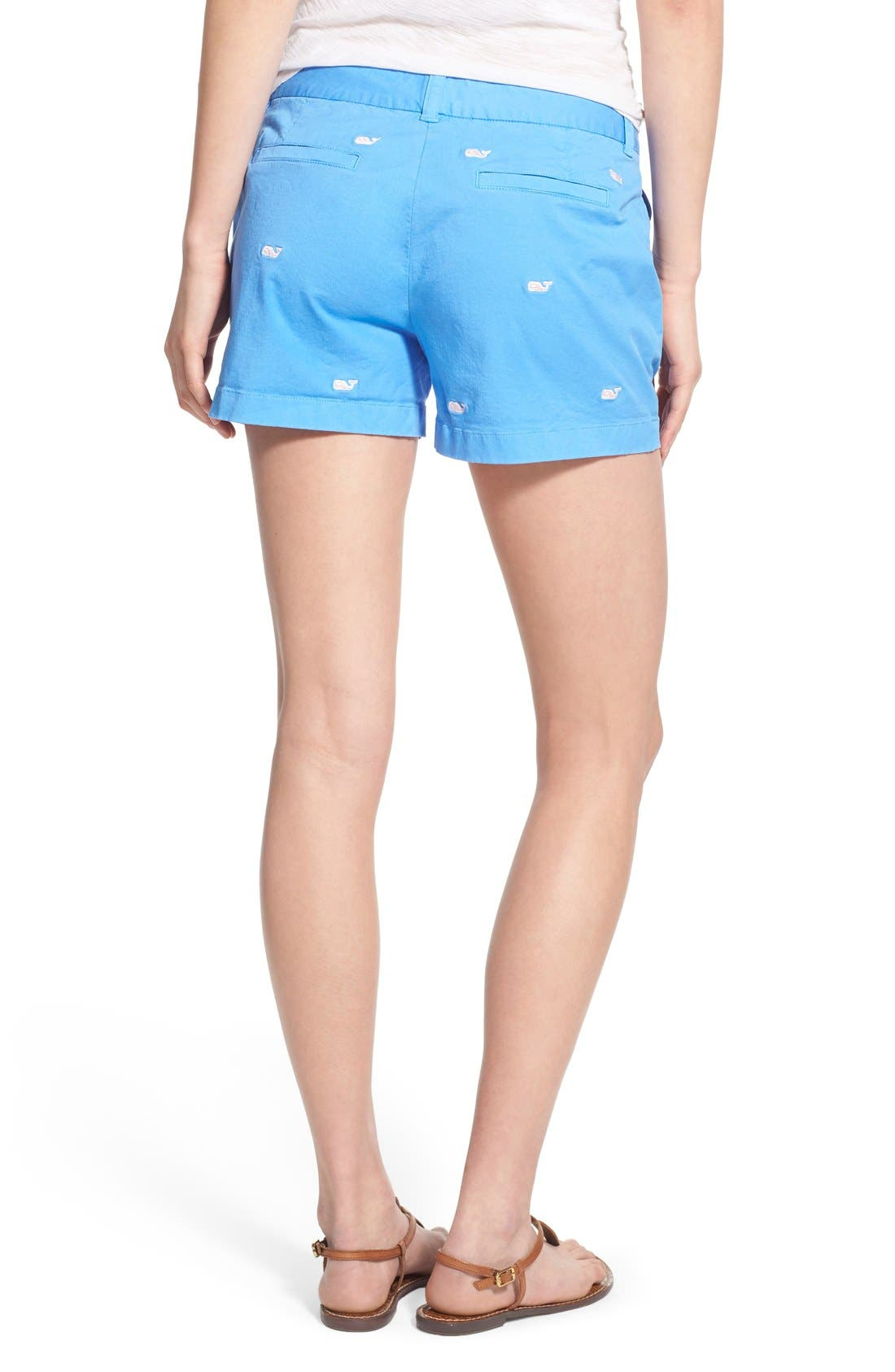 Alternate Image 2  - Vineyard Vines 'Dayboat' Whale Embroidered Stretch Cotton Shorts