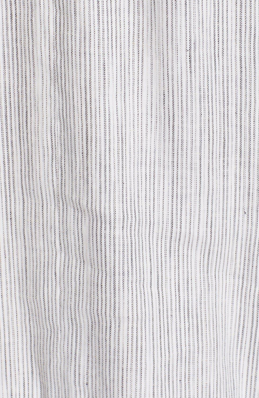 Alternate Image 5  - Theory 'Adlerdale' Stripe Sleeveless Linen Blend Dress