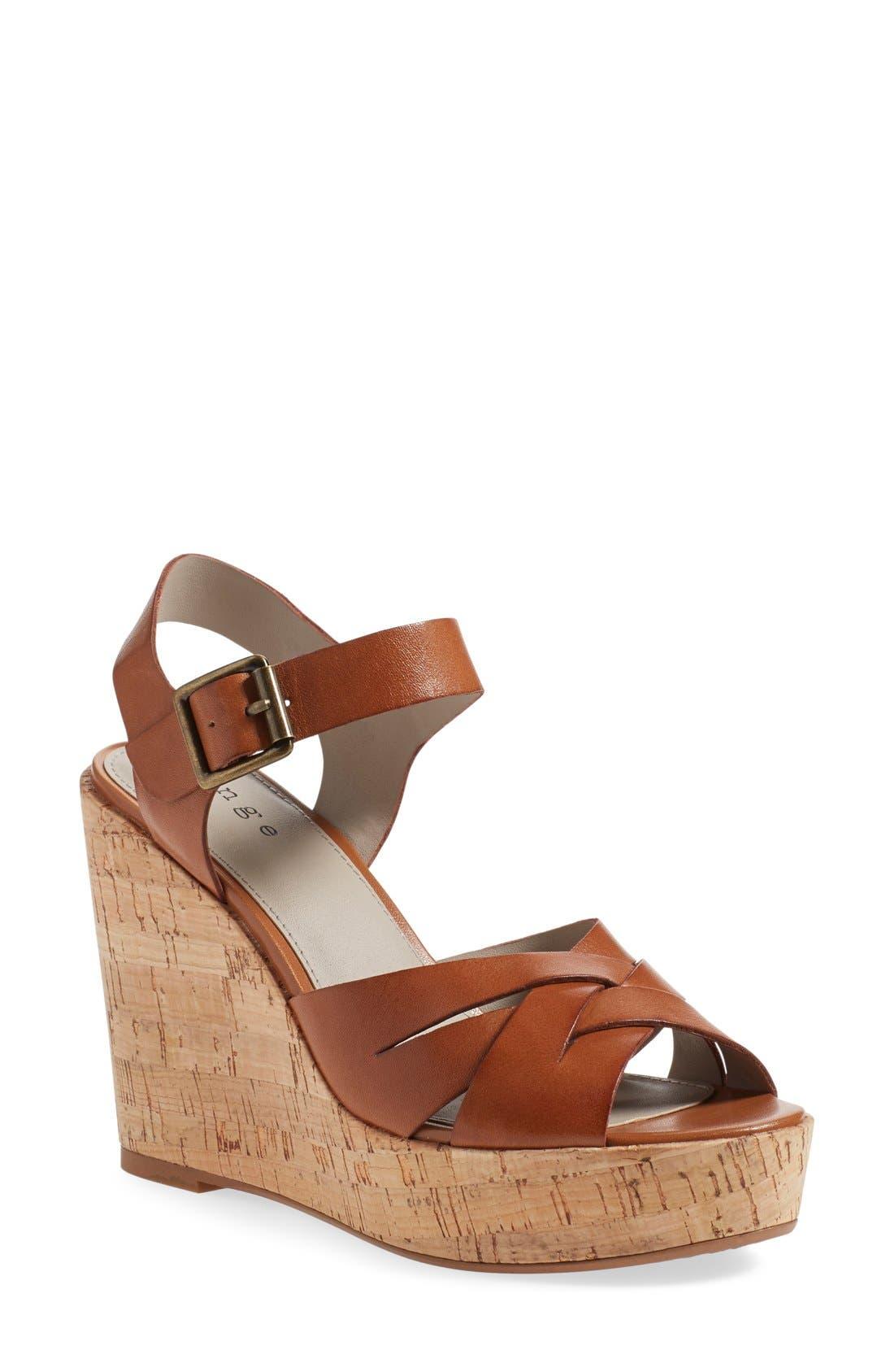 Alternate Image 1 Selected - Hinge 'Hadley' Wedge Sandal (Women)