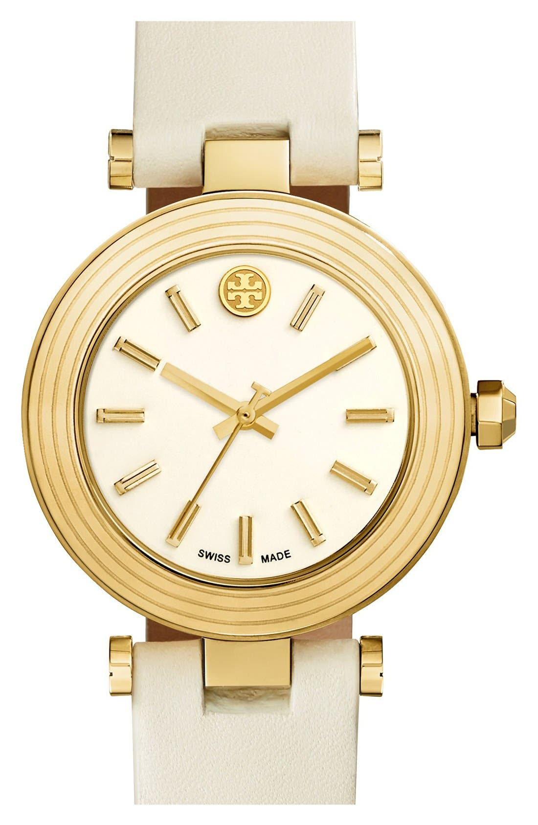 Alternate Image 1 Selected - Tory Burch Leather Strap Watch, 35mm