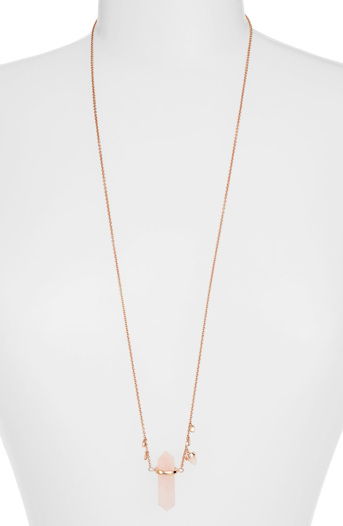 Main Image - Rebecca Minkoff Long Raw Crystal Pendant Necklace