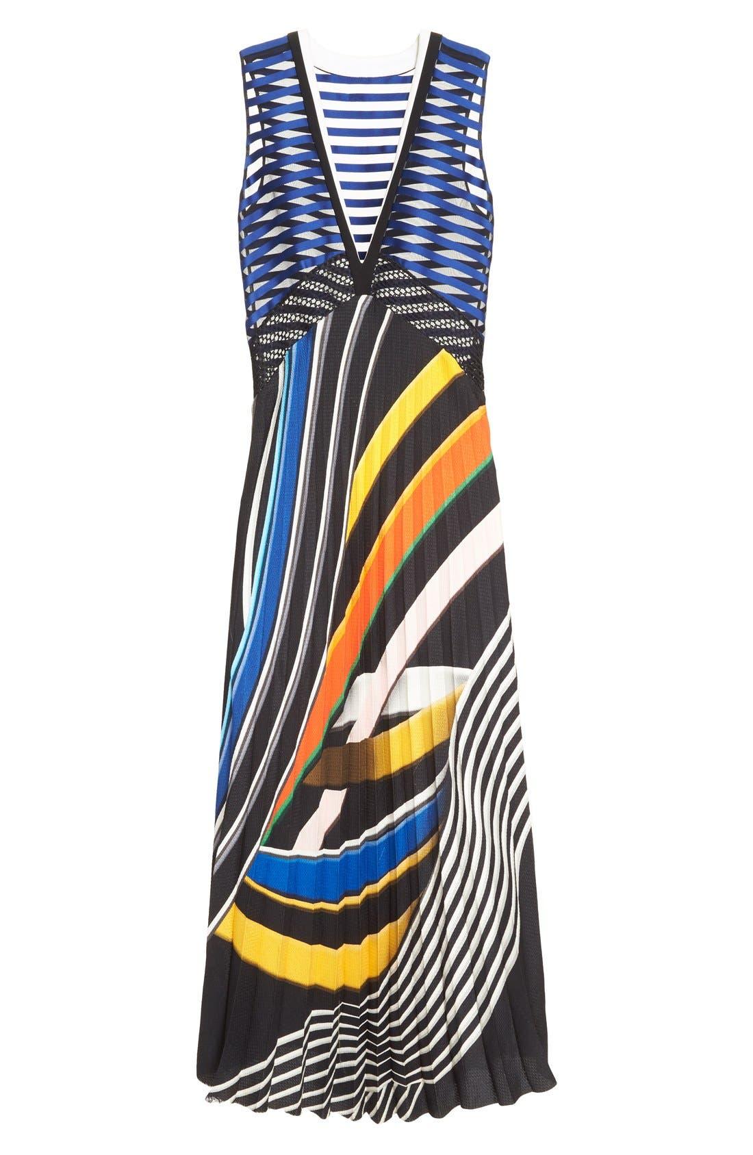 Alternate Image 4  - Mary Katrantzou 'Rindi' V Neck Satin Dress