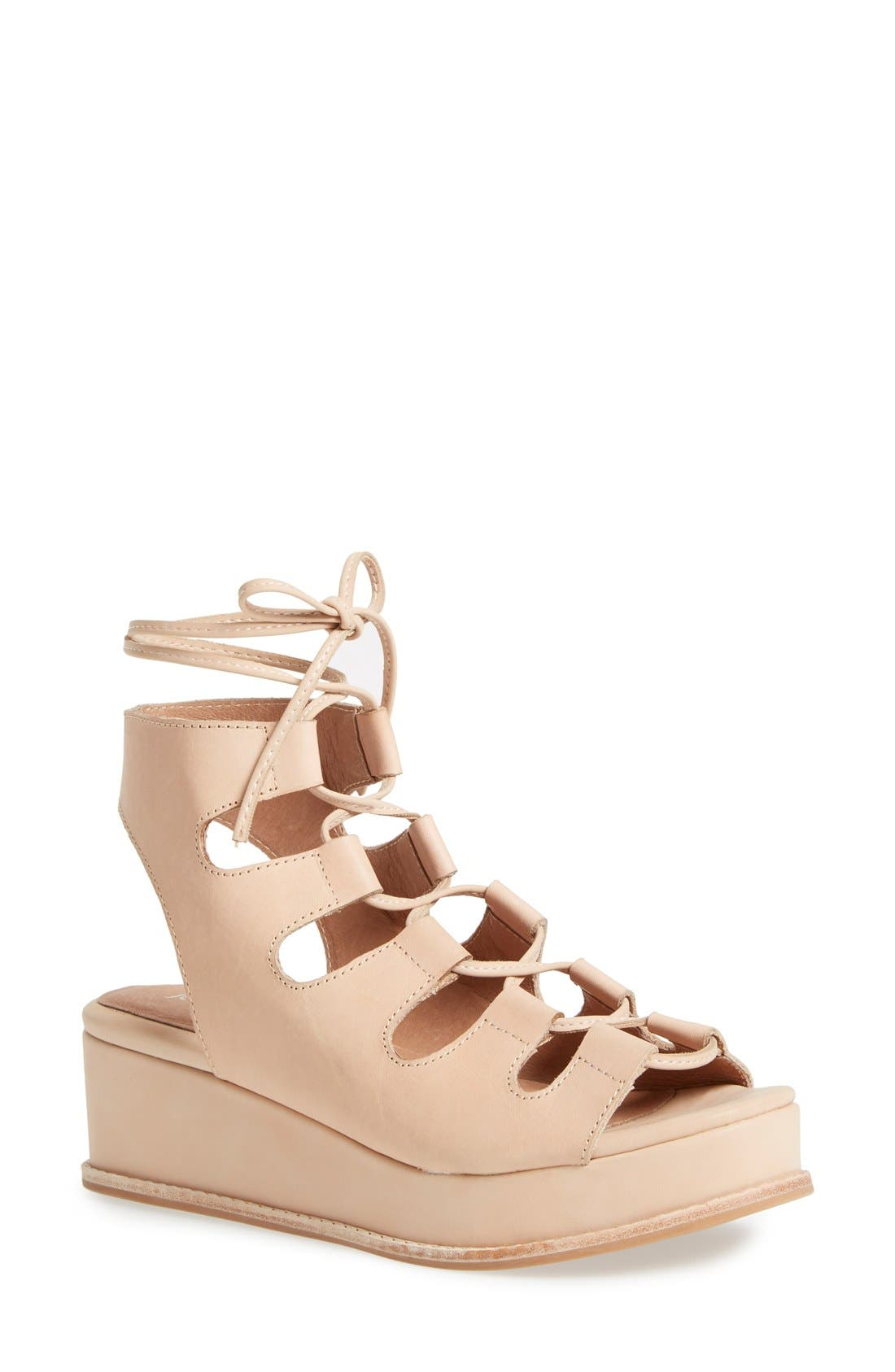 Alternate Image 1 Selected - Jeffrey Campbell 'Ximeno' Platform Ghillie Sandal (Women)