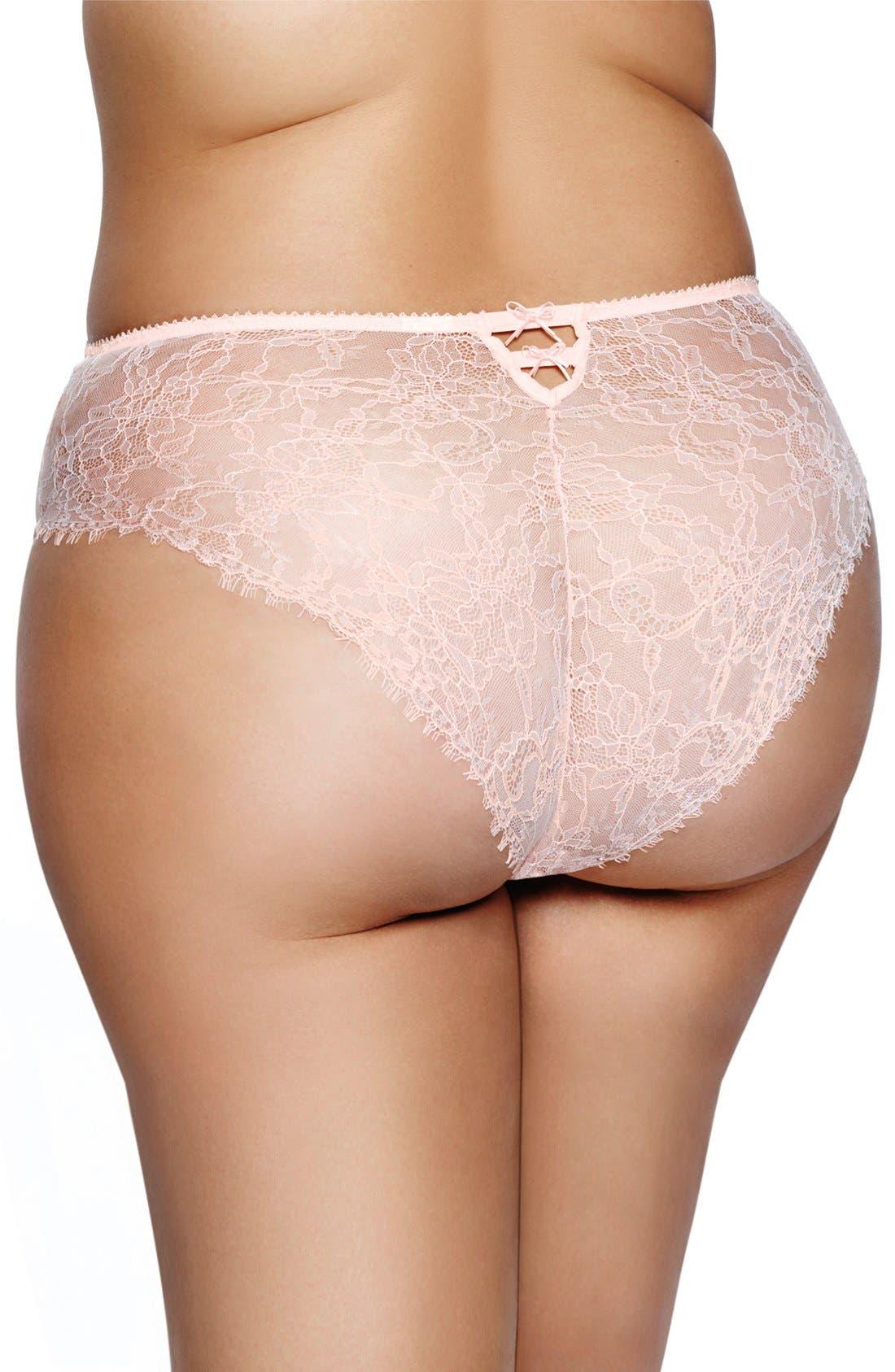 Alternate Image 2  - Ashley Graham 'Basic' Lace Back Briefs(Plus Size)