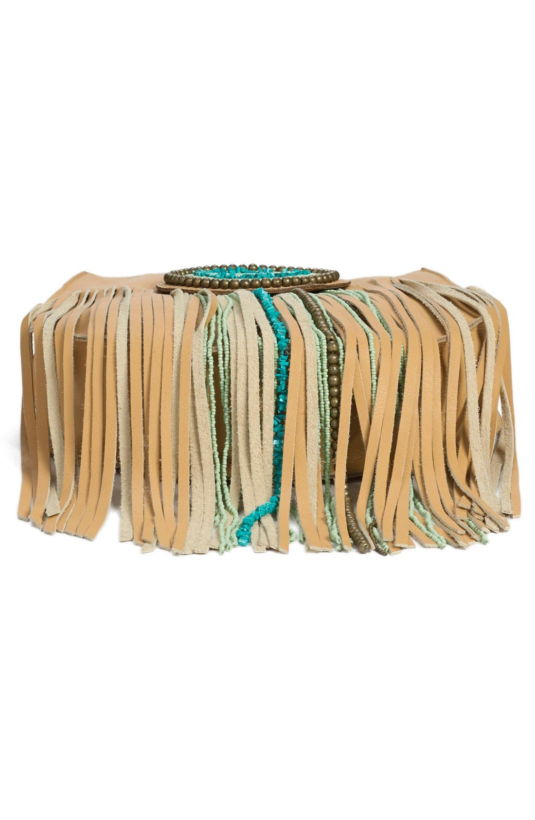Alternate Image 7  - Sam Edelman 'Karina' Fringe Leather Shoulder Bag