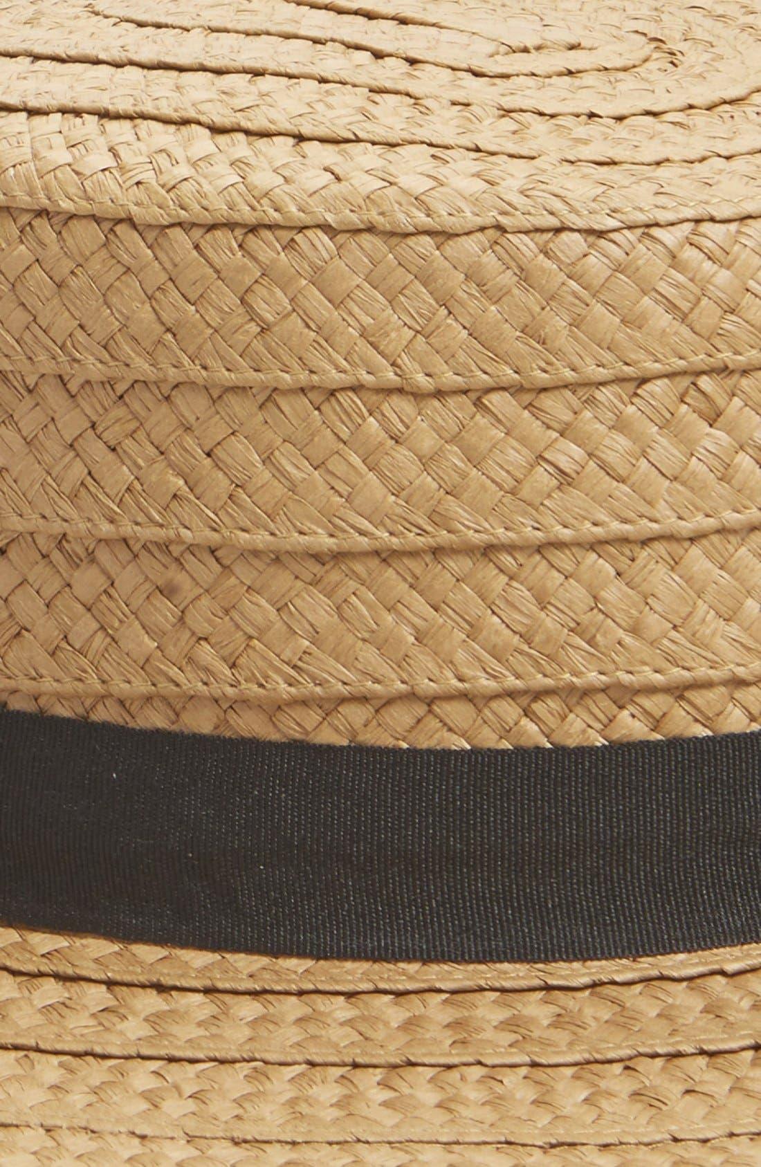 Alternate Image 2  - Hinge Straw Boater Hat
