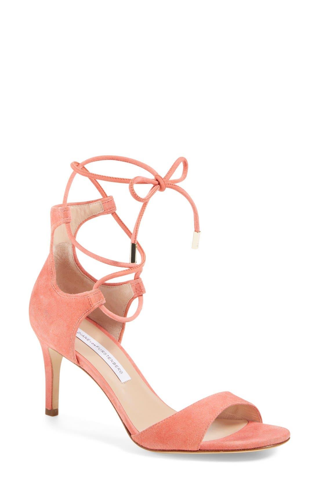 Alternate Image 1 Selected - Diane von Furstenberg 'Rimini' Ankle Wrap Sandal (Women)