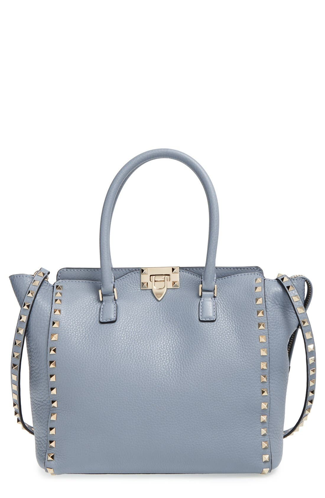 Alternate Image 1 Selected - Valentino 'Rockstud Double Handle' Leather Tote