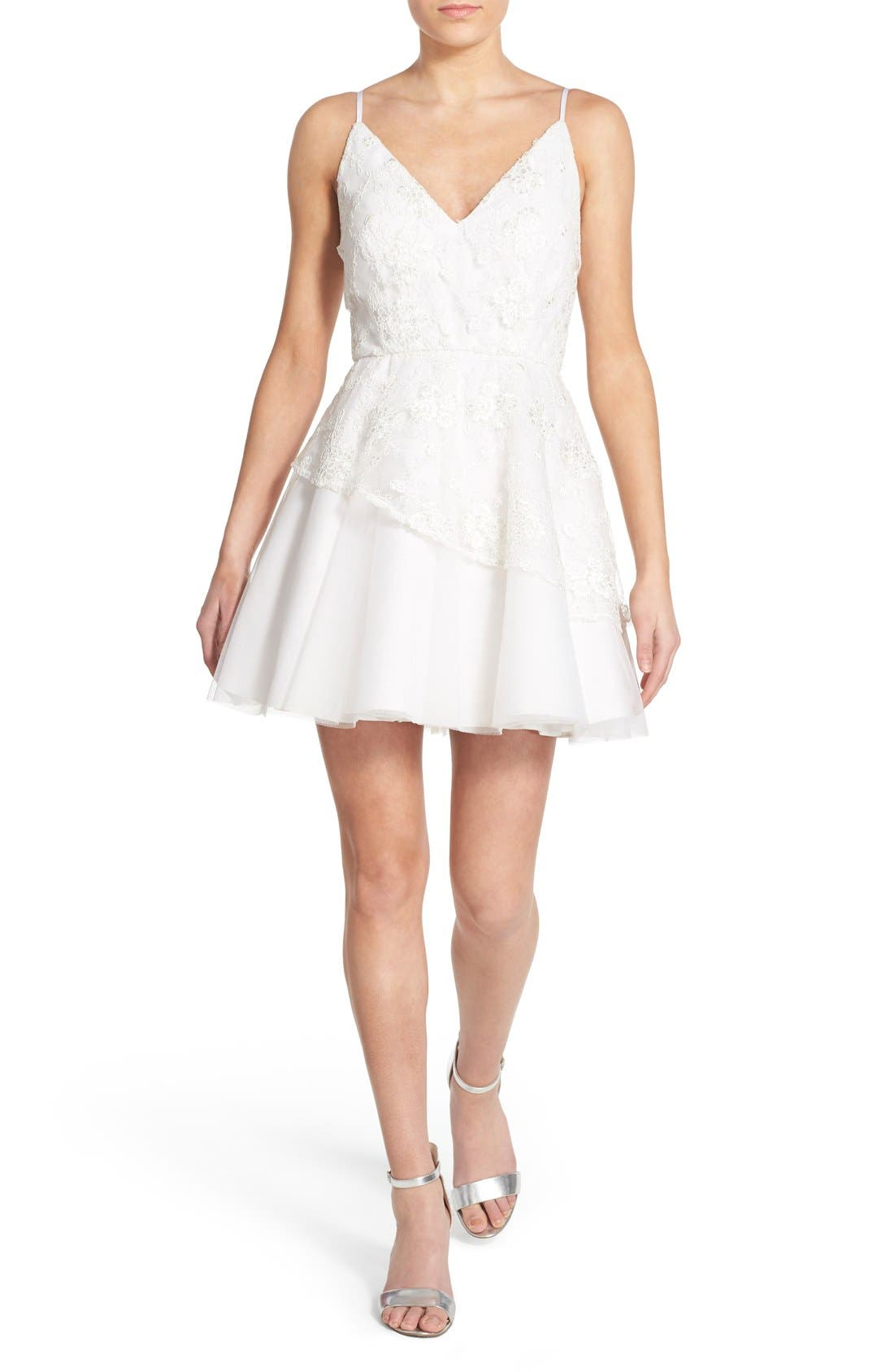 Alternate Image 1 Selected - Dear Moon Lace Skater Dress