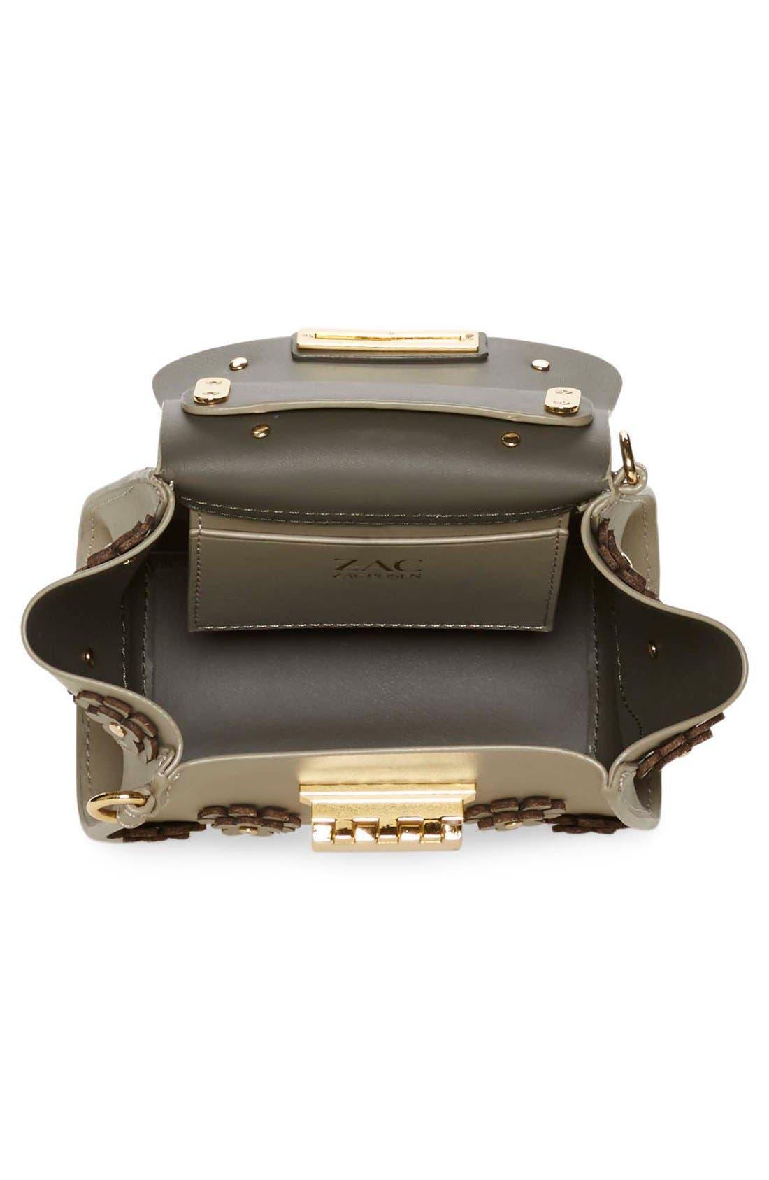 Alternate Image 4  - ZAC Zac Posen 'Mini Eartha' Embellished Leather Top Handle Satchel