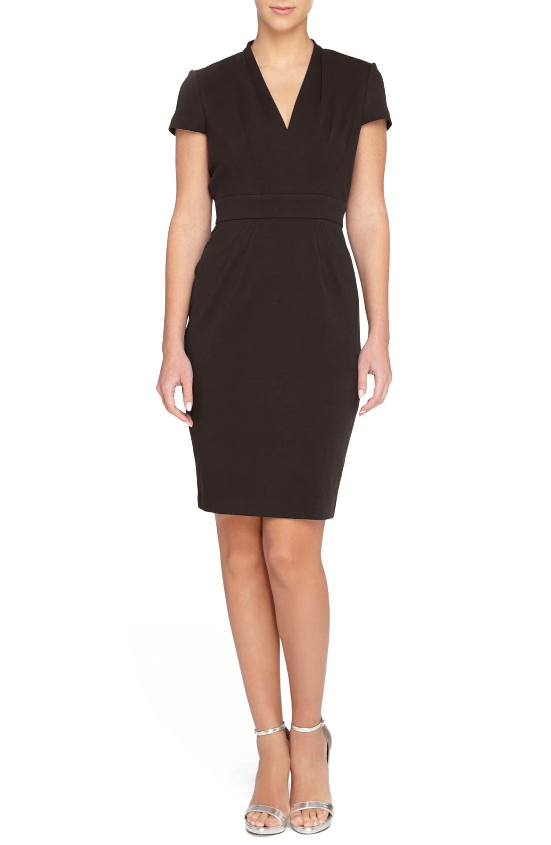CATHERINE CATHERINE MALANDRINO 'Dale' V-Neck Sheath Dress