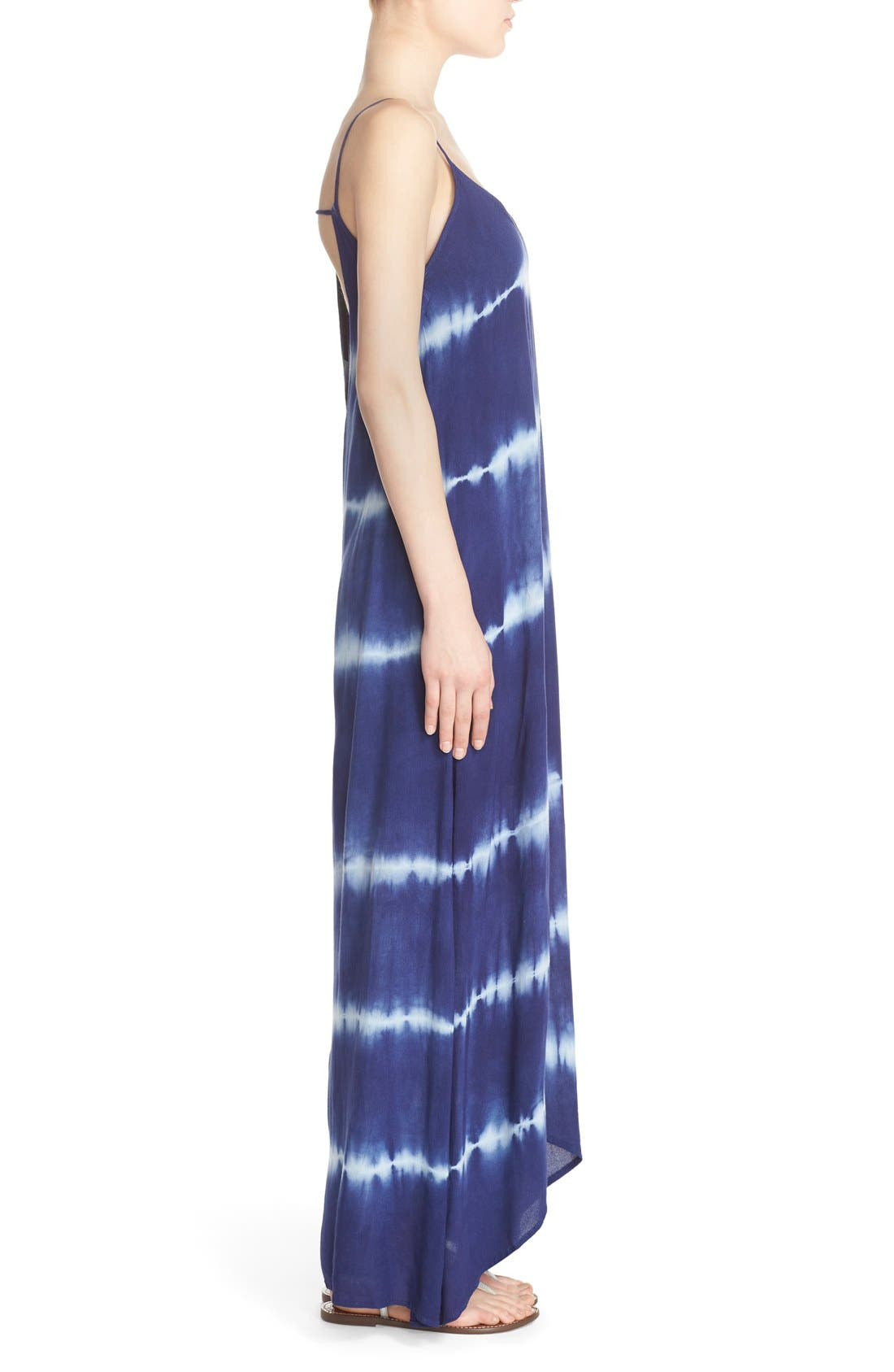 Alternate Image 3  - Fraiche by J Border Print Crepe A-Line Maxi Dress