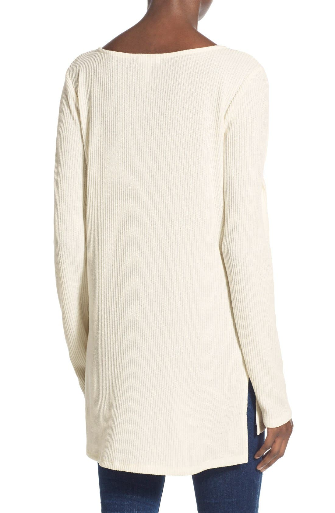 Alternate Image 2  - Leith Ribbed Knit Tunic Sweater