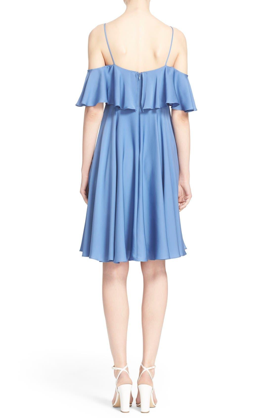 Alternate Image 2  - Milly 'Emmaline' Ruffle Stretch Silk Dress