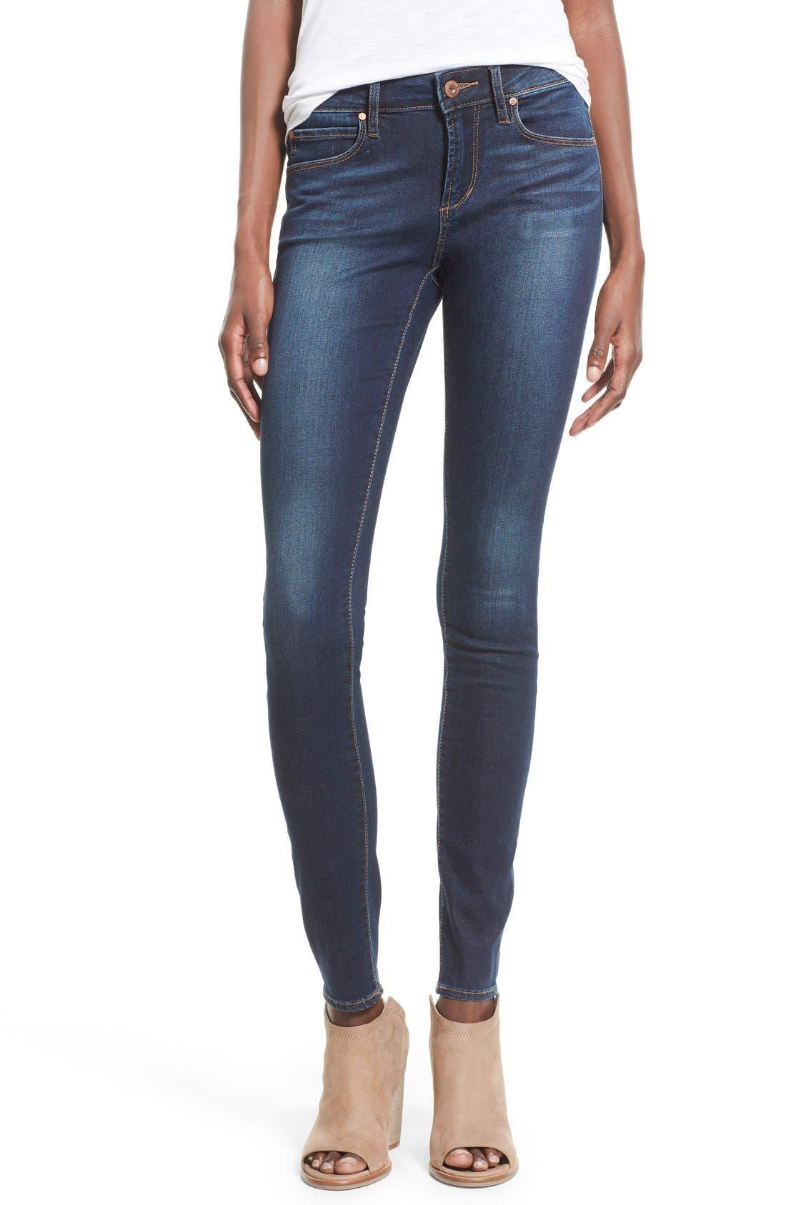 Main Image - Articles of Society 'Mya' Skinny Jeans (Tahoe)