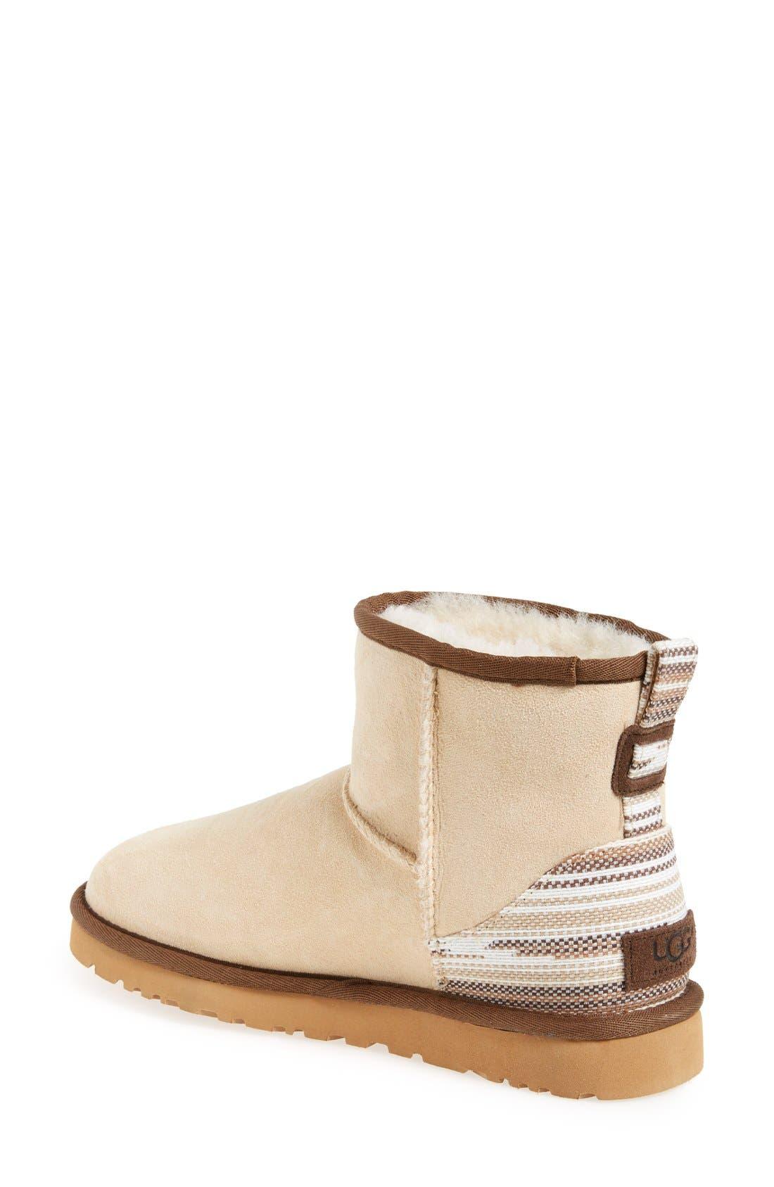 Alternate Image 2  - UGG® 'Classic Mini Serape' Genuine Shearling Lined Boot (Women)
