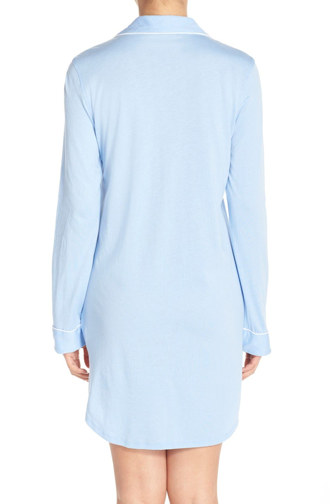 Alternate Image 2  - Lauren Ralph Lauren Knit Nightshirt (Online Only)