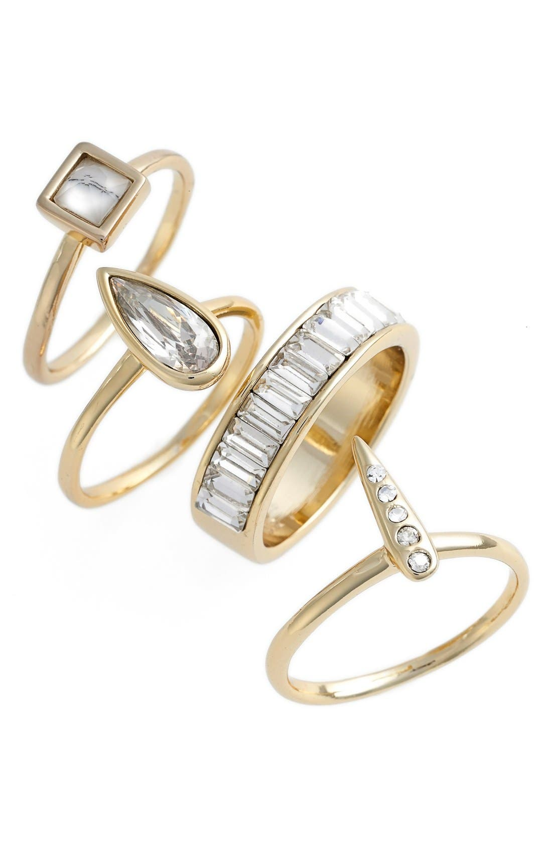 Main Image - Alexis Bittar Crystal Stacking Rings (Set of 4)