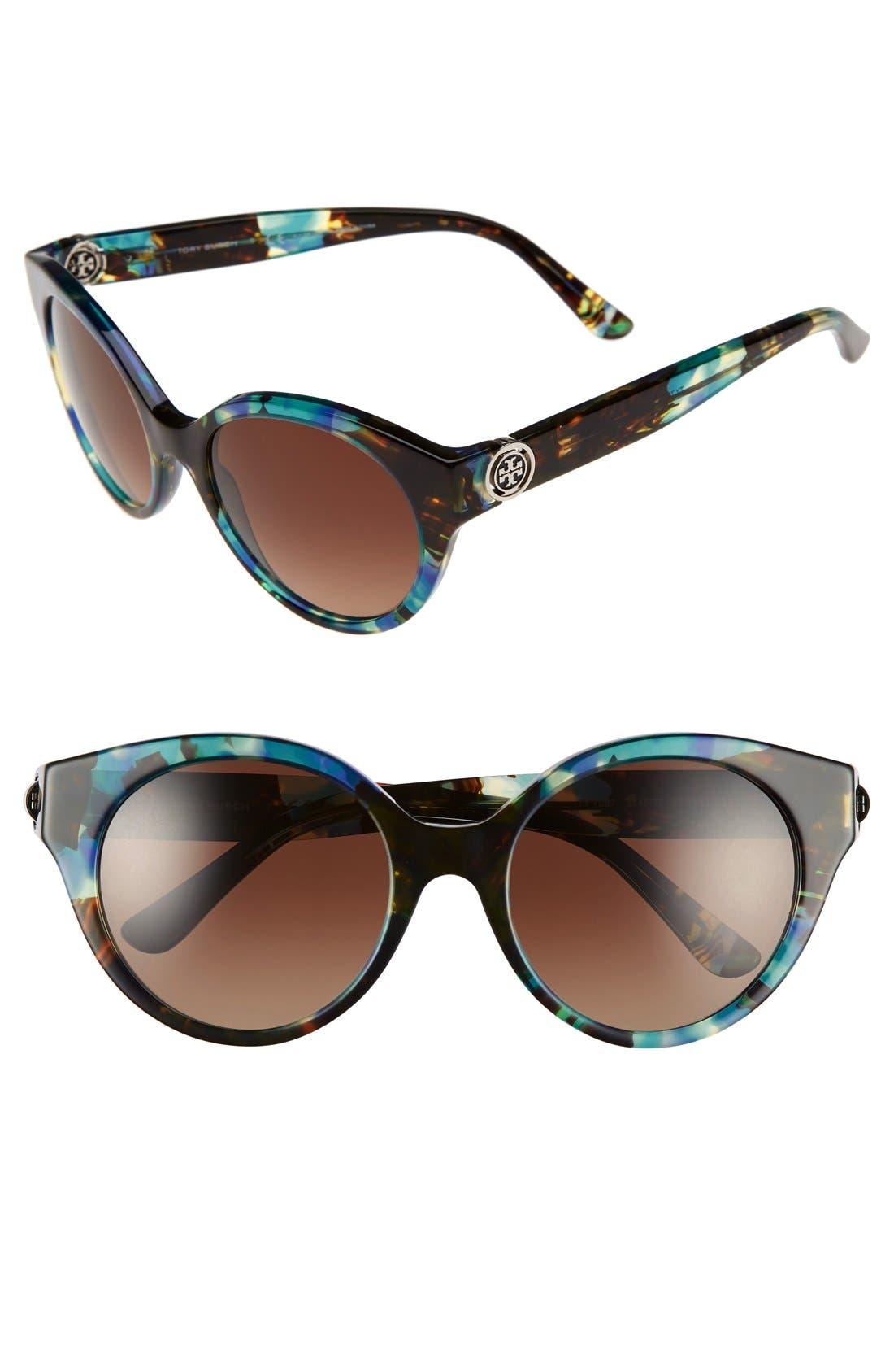 Alternate Image 1 Selected - Tory Burch 52mm Polarized Cat Eye Sunglasses