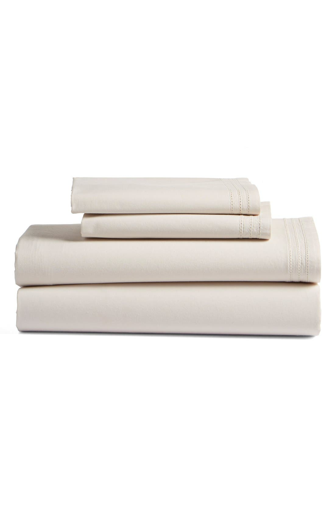 BEEKMAN 1802 'Bellvale' Cotton Percale Fitted Sheet