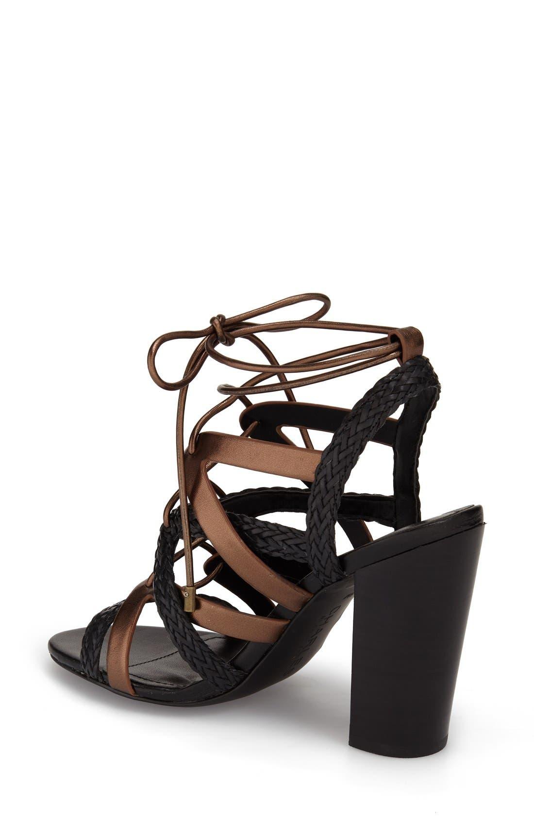 Alternate Image 2  - Charles by Charles David 'Greensboro' Lace-Up Block Heel Sandal (Women)
