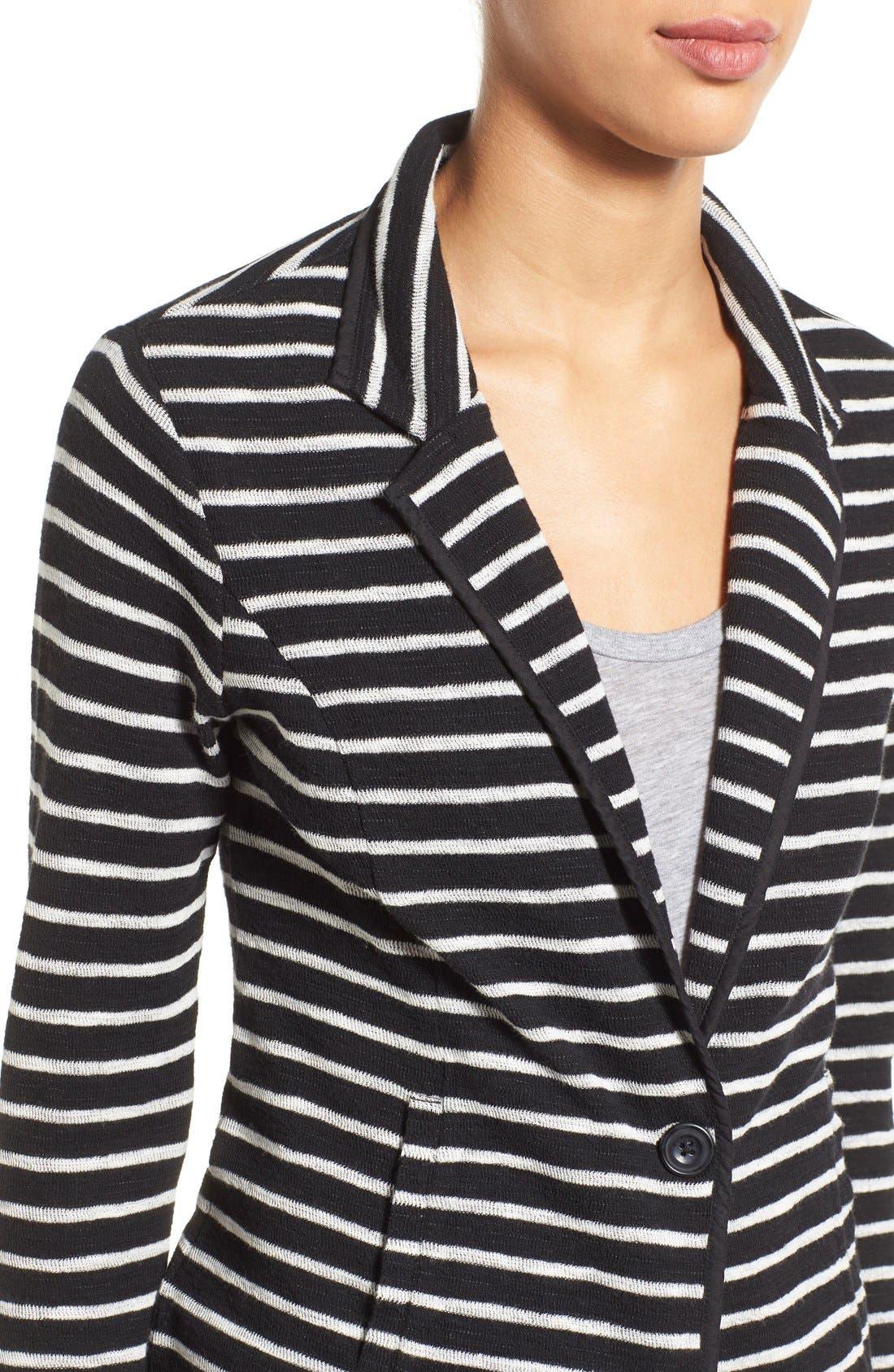Alternate Image 4  - Caslon® One-Button Knit Blazer (Regular & Petite)