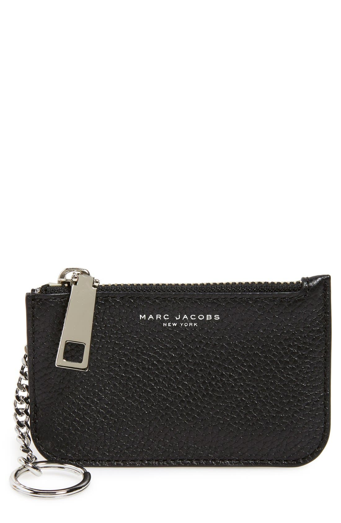 MARC JACOBS 'Gotham' Pebbled Leather Key Pouch