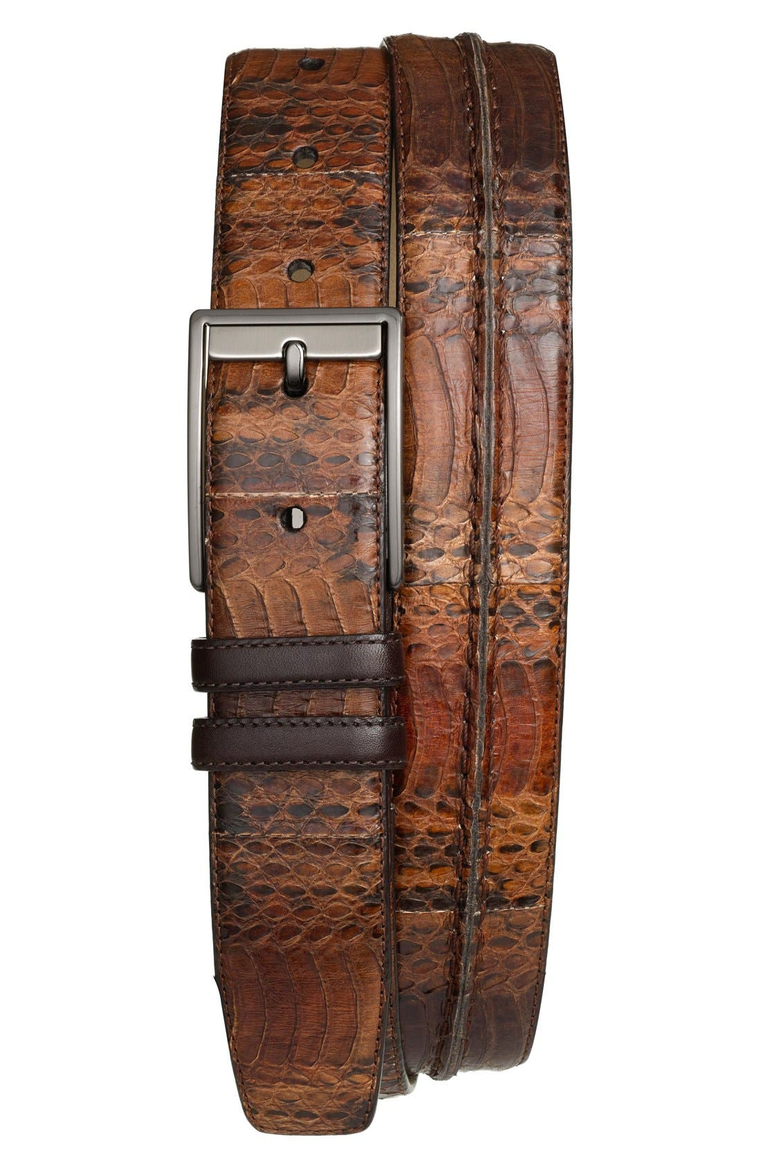 MEZLAN Genuine Snakeskin Belt