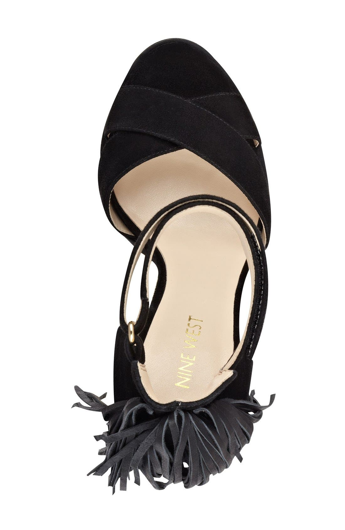Alternate Image 3  - Nine West 'Hustle' Fringe Ankle Strap Sandal (Women)