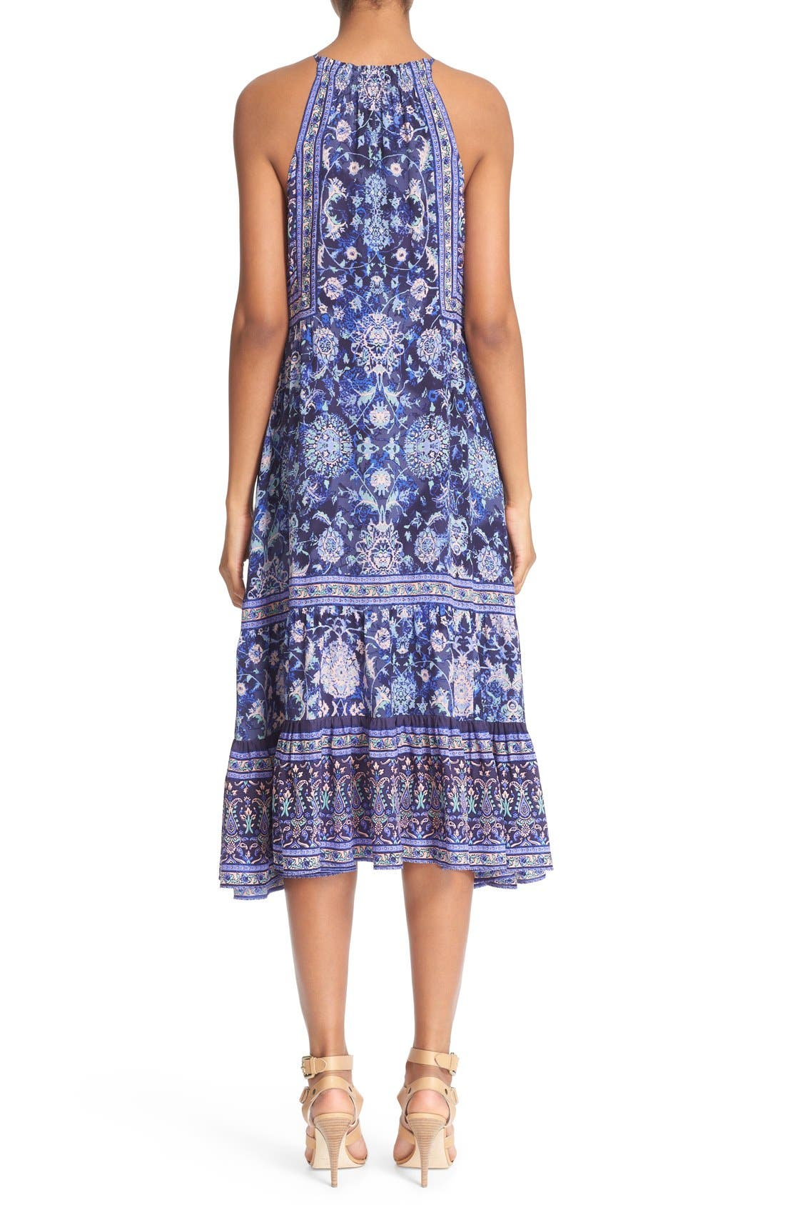 Alternate Image 2  - Rebecca Taylor 'Dreamweaver' Print Silk Midi Dress